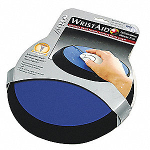 Mouse Pad w/Wrist Support,Cobalt
