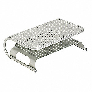 Monitor/Printer Stand,Pewter,Steel