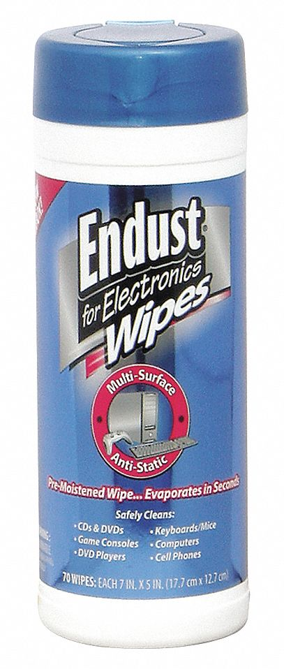 Anti-Static Wipes, Recommended For Chrome, Glass, Metal, Plastic, Stainless Steel, Wood