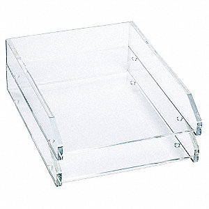Letter Tray,Clear,Acrylic