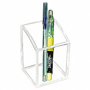Pencil Cup,Clear,Acrylic