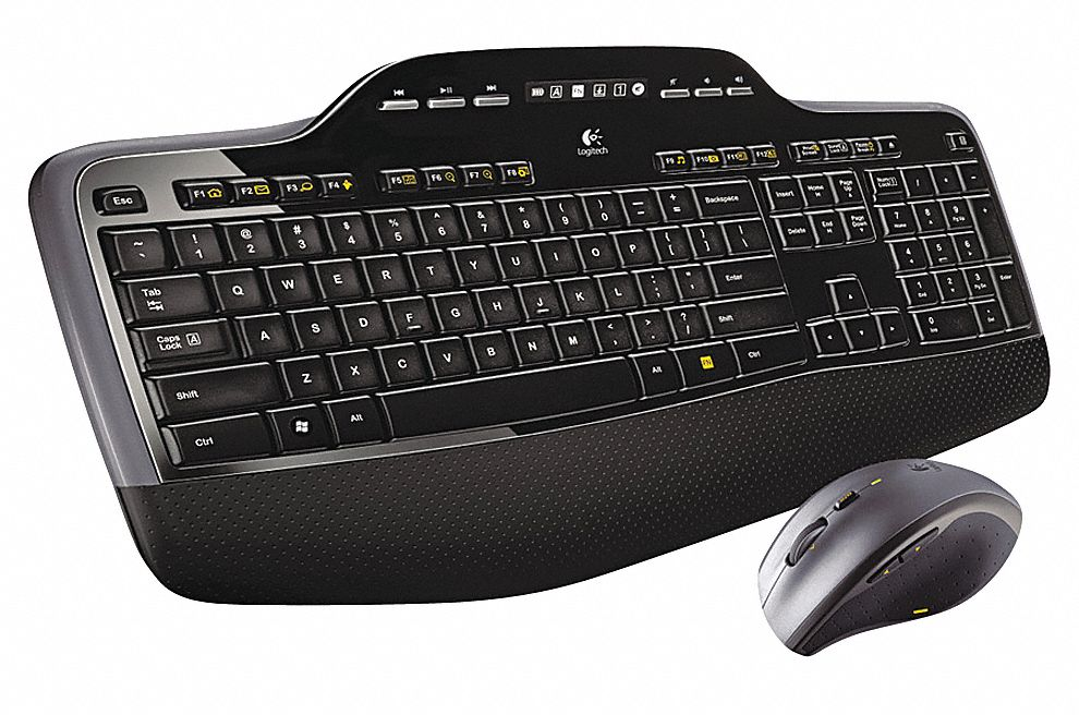 Wireless Keyboard, Black, USB
