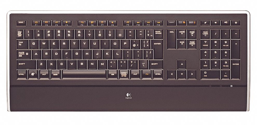 Corded Keyboard, Black/Clear, USB
