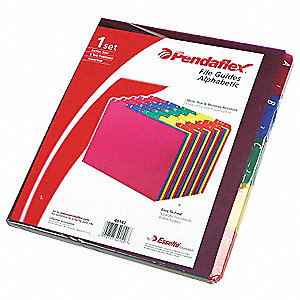 "Binder Divider with 25 Preprinted Tabs, Multicolor A to Z Tabs, 8-1/2"" x 11"""