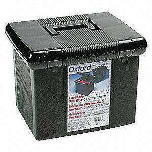 Portable File  Box,Black