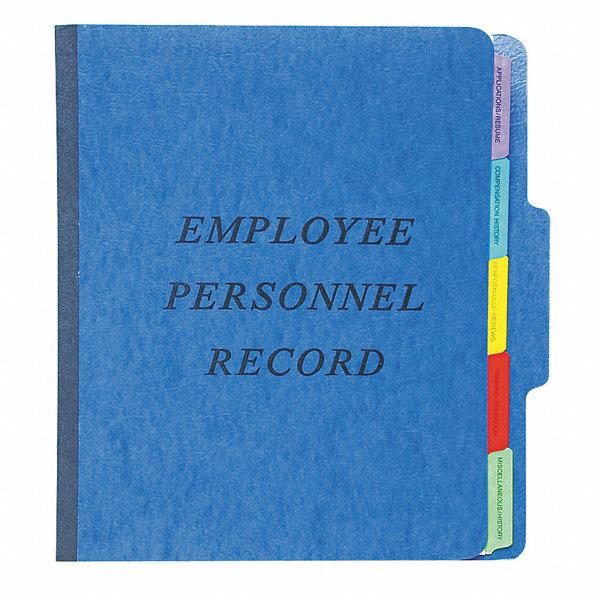 pendaflex employee  personnel file folder blue