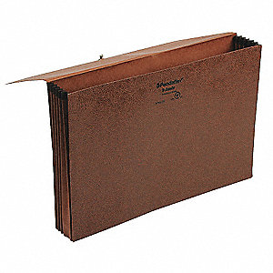 "Expandable File Wallet,5 1/4"",Red Fiber"