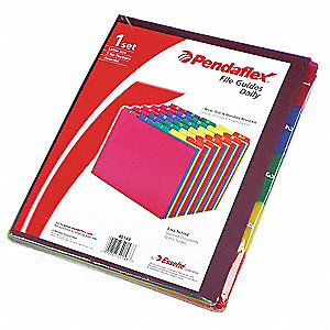 "Binder Divider with 31 Preprinted Tabs, Multicolor 1 to 31 Tabs, 8-1/2"" x 11"""