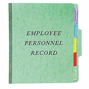 Employee/Personnel File Folder,Green