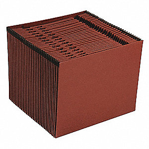 31  Pocket Red Fiber Daily (1-31) Expandable File , Red Fiber