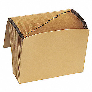 21 Pocket Kraft Alpha (A-Z) Expandable File, Redrope