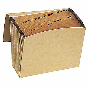 31  Pocket Kraft Daily (1-31) Expandable File , Redrope