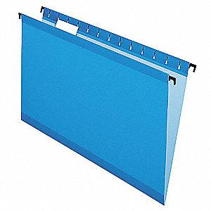 Hanging File Folders, Blue, PK20