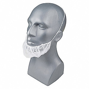 "Polypropylene Beard Cover, 18"" Diameter, Size: Universal, Package Quantity 1000"