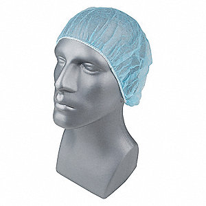 Bouffant Cap,PP,21 In,Blue,PK1000