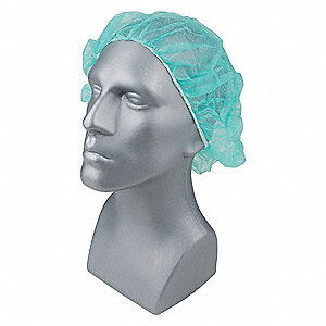 Bouffant Cap,PP,24 In,Green,PK1000