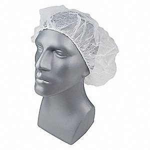 "Polypropylene Bouffant, 28"" Diameter, Size: Universal, Package Quantity 1000"