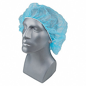 Bouffant Cap,PP,28 In,Blue,PK1000