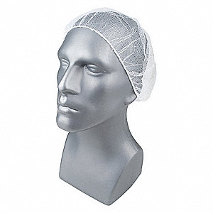 "Hairnet,Polyester,18"",White,PK1000"
