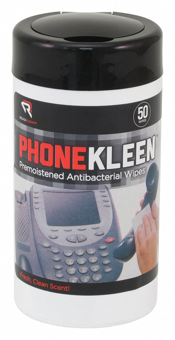 Disinfecting Phone Wipes, Recommended For Glass, Plastic