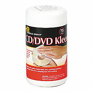 Cleaning Wipes, Recommended For CD/DVD