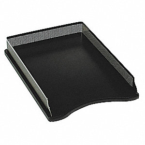 Letter Tray, Black/Metal, Metal