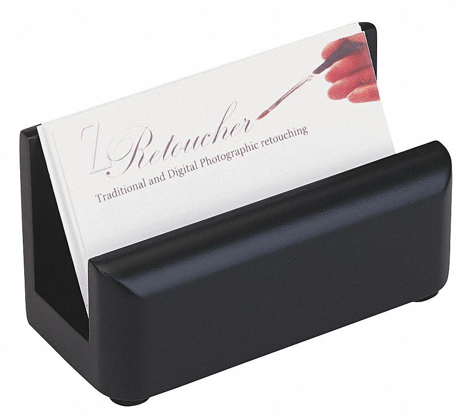 ROLODEX Business Card HolderBlackSolid Wood 23L282ROL62522