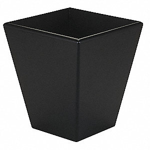 Square Black Trash Can