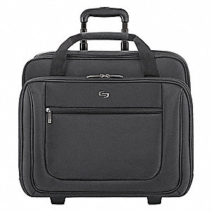"Polyester Roller Laptop Case Fits Laptop Up to 17"", Black"