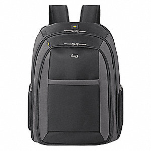 "Ballistic Poly Laptop Backpack for Laptop Up to 16"", Black"