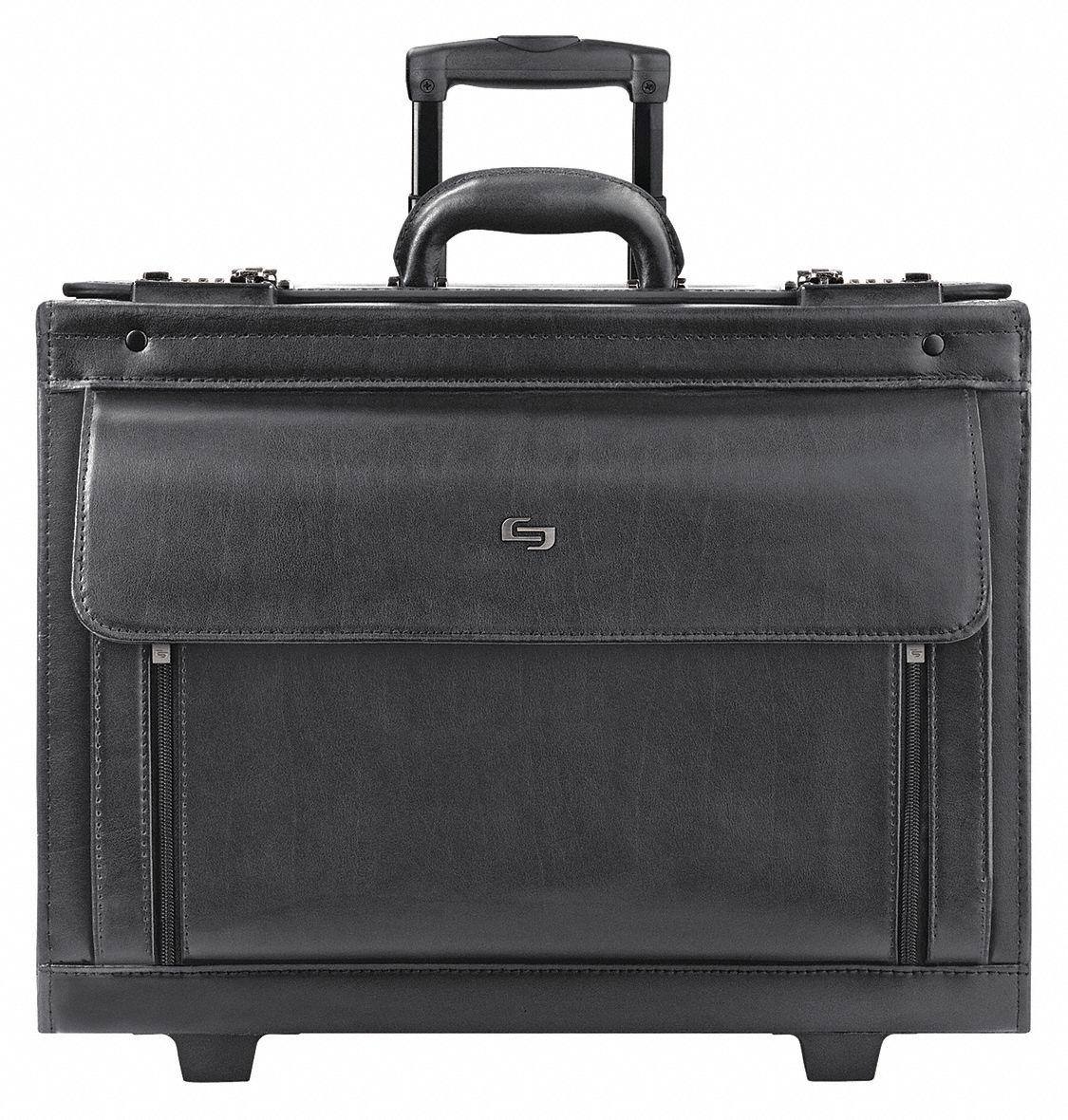 Solo Roller Laptop Case (Black, Leather). Model: USLD9784