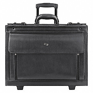 "Leather Roller Laptop Case Fits Laptop Up to 16"", Black"