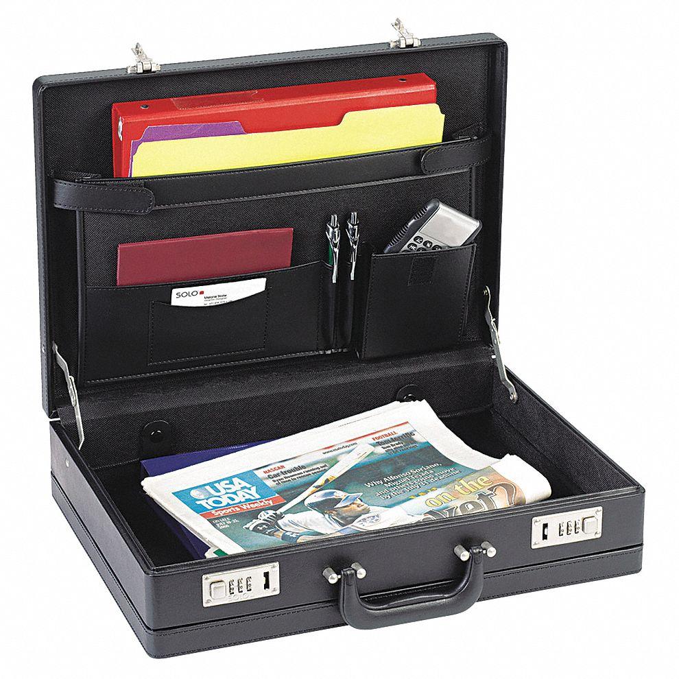 Solo Briefcase (Black, Vinyl). Model: USLK854