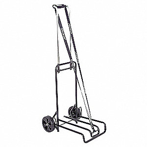 "Luggage Cart, Continuous Frame, 250 lb., Overall Width 15-1/2"", Overall Height 44-1/2"""