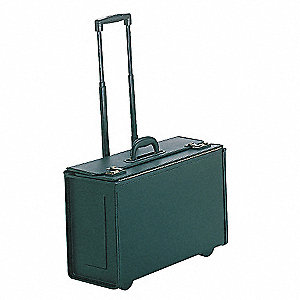 Vinyl Tufide® Wheeled Catalog Case, Black