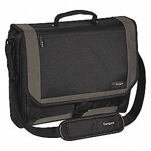"Lightweight Nylon Laptop Case Fits Laptop Up to 17"", Black/Gray/Yellow"