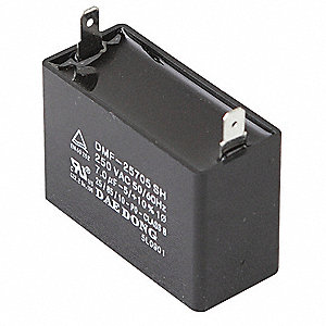 Square Motor Run Capacitor,20 Microfarad Rating,250VAC Voltage