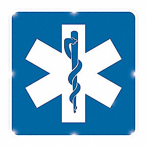 LED Sign,Hospital,White/Blue