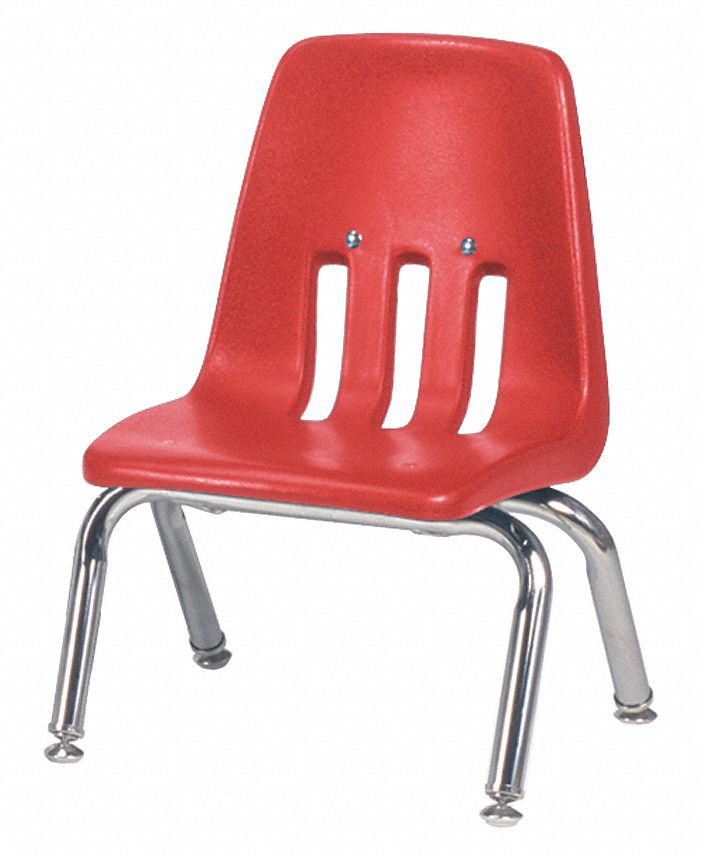 VIRCO INC Stack ChairPlasticRedPreschool 23L6829010RED70CHRM
