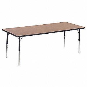 VIRCO INC Conference Table X In Medium Oak L - 30 conference table