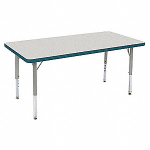 Table,24 x 48 In,Gray Nebula,Preschool-K