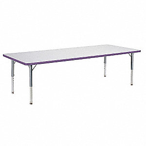 Table,30 x 72 In,Gray Nebula,Preschool-K