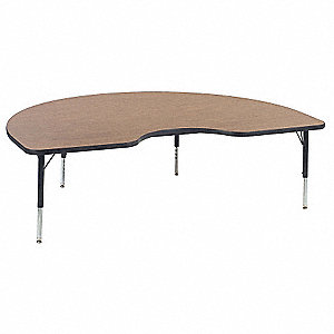 Table,Kidney,Medium Oak,Preschool-K