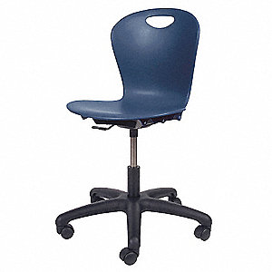 Task Chair,Plastic,Navy