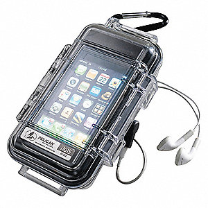 "2.64"" x 1.37"" x 5.14"" Polycarbonate Cell Phone/Digital Player Case, Solid Black"