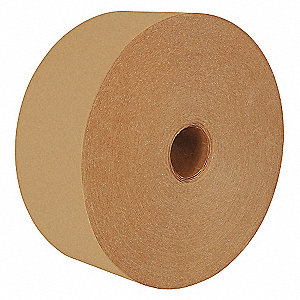 "600 ft. x 3"" 57 lb. Natural Kraft Paper (Virgin Fibers) Carton Sealing Tape, Natural"