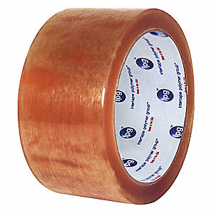 Polypropylene Carton Sealing Tape, Rubber Adhesive, 48mm X 100m, 36 PK