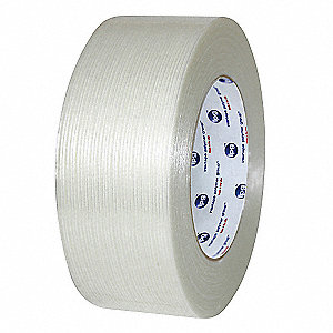 55m 6.10 mil Biaxially Oriented Polypropylene Film/Reinforced Fiberglass Filament Tape, Clear, 24 PK