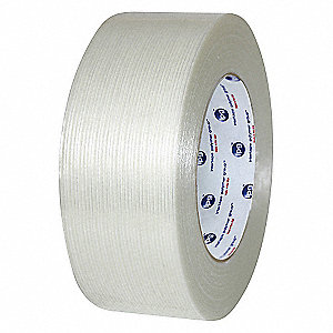 55m 4.00 mil Biaxially Oriented Polypropylene Film/Reinforced Fiberglass Filament Tape, Clear, 36 PK
