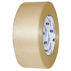 55m 4.2 mil Biaxially Oriented Polypropylene Film/Reinforced Fiberglass Filament Tape, Clear
